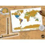 Rubbel-Weltkarte: Ideale Geschenkidee für Weltenbummler!