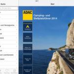 ADAC Campingplatz- und Stellplatzführer 2014 für iPad und iPhone im Angebot