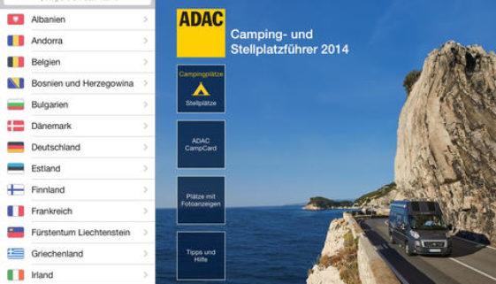 ADAC Stellplatzführer iPad