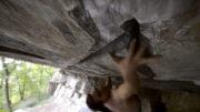 Alex Biermann beim Bouldern