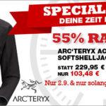Arc'teryx Herren-Softshelljacke mit 55% Rabatt im Angebot