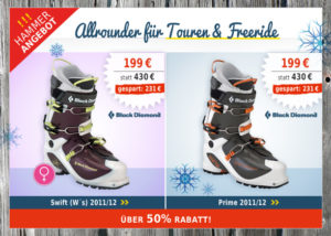 Bergzeit Angebot: Black Diamond Prime Skistiefel