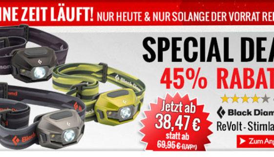Black Diamond ReVolt im Angebot mit 45% Rabatt bei den Bergfreunden.