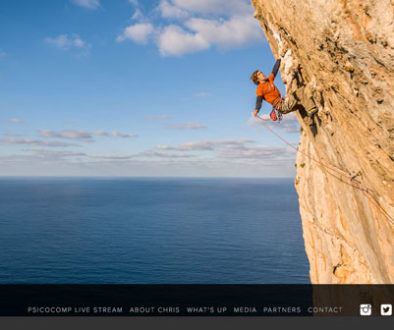 Homepage von Chris Sharma