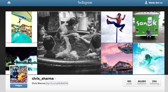 Chris Sharma auf Instagram