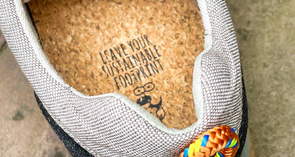 Leave Your Sustainable Footprint –endlich darf man mal seinen Fußabdruck irgendwo hinterlassen. Sonst soll man ihn ja immer vermeiden. :D