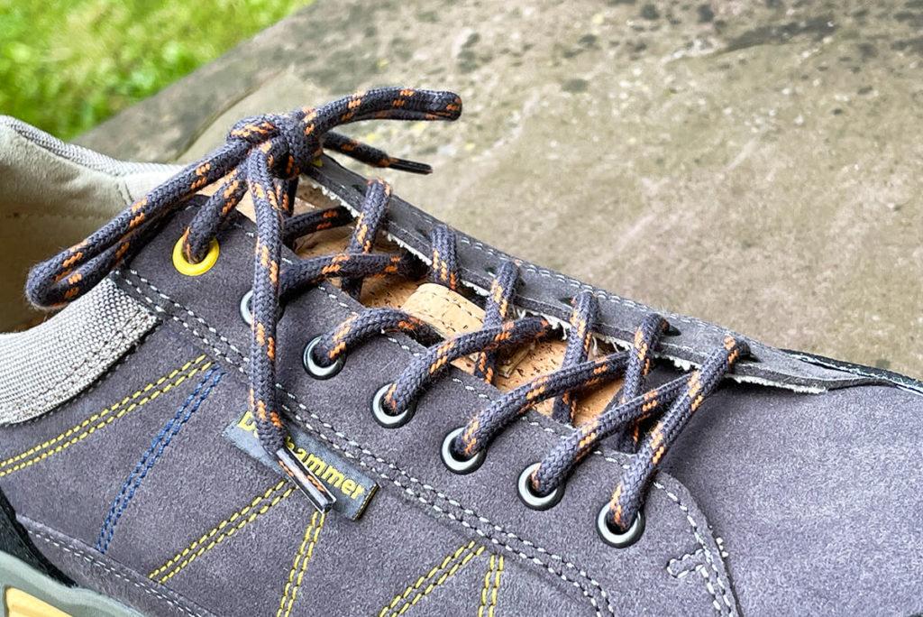 Die Verarbeitung der Doghammer Guide Vegan ist sehr gut und zeigt, dass sich die Schuhe auch bei Wanderungen mit Felskontakt gut machen werden.