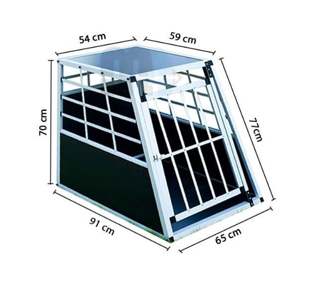 Hundetransportbox aus Alu (Single)