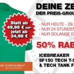 T-Shirt und Tank-Top aus Merinowolle mit 50% Rabatt