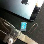 Blau.de Nano SIM für das iPhone 5 selbst geschnitzt