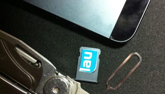 iPhone 5 Nano-SIM von Blau