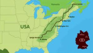 Karte des Appalachentrail