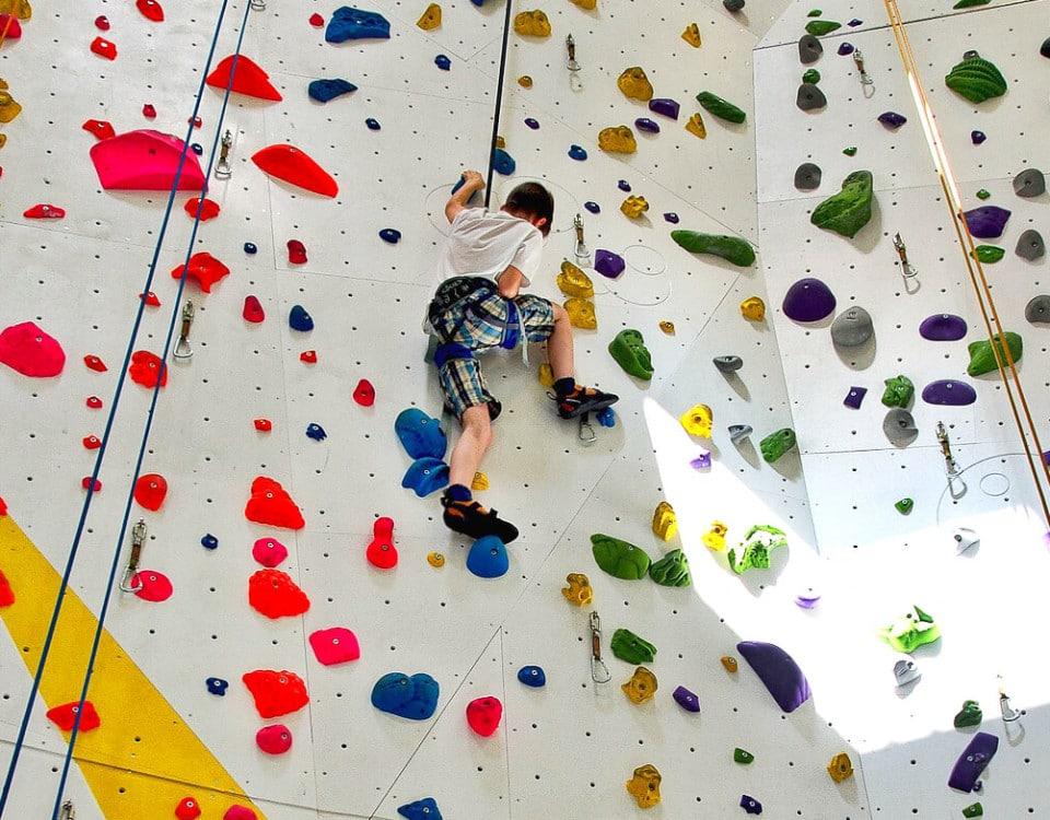 Foto: Klettern in der Kletterhalle