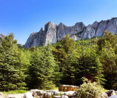 Klettern in Gigondas (Südfrankreich)