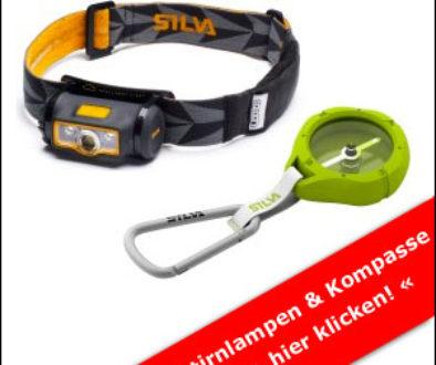 Kompass und Stirnlampe von Silva