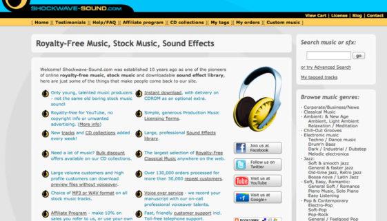 lizenzfreie Musik für Videos von shockwave-sound.com
