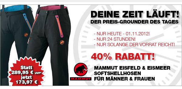 unschlagbarer Preis 100% hohe Qualität 60% günstig Mammut Softshellhose Eiger Extreme mit 40% Rabatt kaufen ...