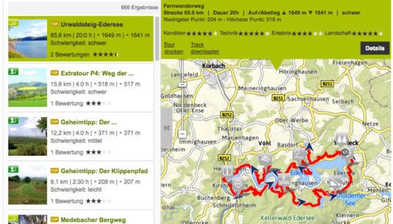 Online Wanderkarten von OutdoorActive.com