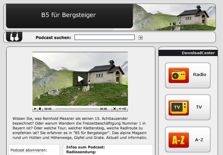 Podcast B5 für Bergsteiger