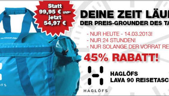 Preisgrounder Haglöfs Lava 90 Reisetasche