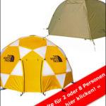 Zelte von The North Face für die nächste Trekkingtour