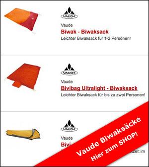 Vaude Biwaksack und Notzelt