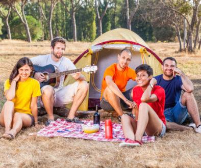 Zelturlaub mit der Familie